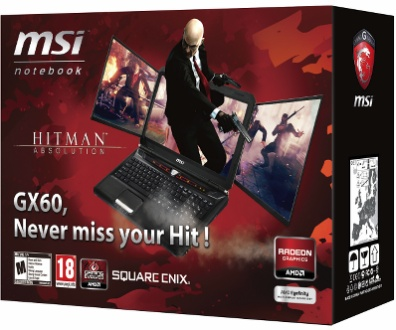 MSI GX60 Hitman Edition