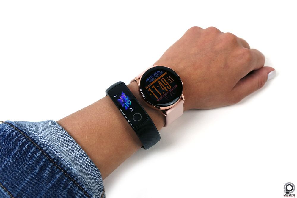 Honor Band 5 és Samsung Galaxy Watch Active