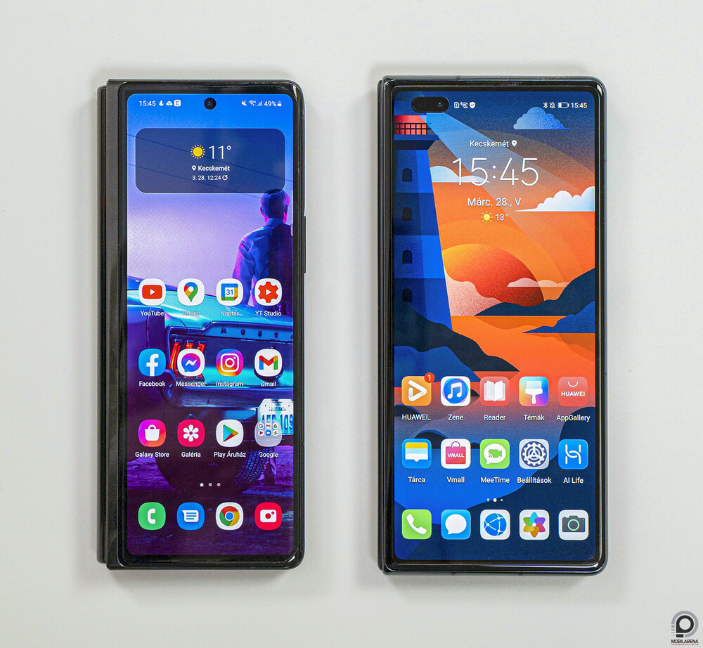 The Galaxy Z Fold2 is with the Mate X2