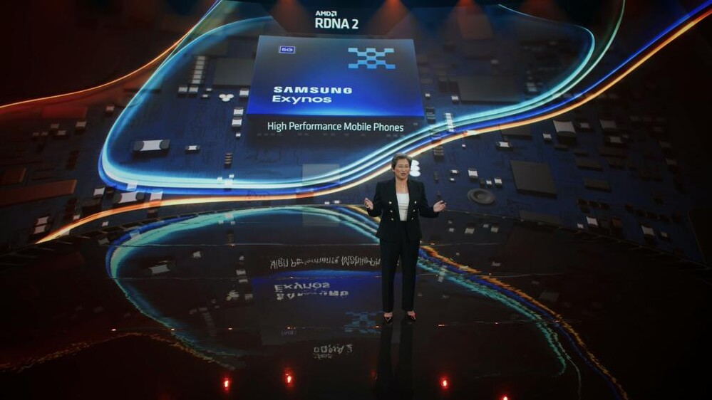 Dr. Lisa Su spoke candidly in an AMD Computexes speech about a Samsung chip that includes the RDNA 2 architecture