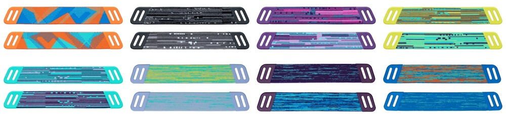 The eight pairs of interchangeable headbands