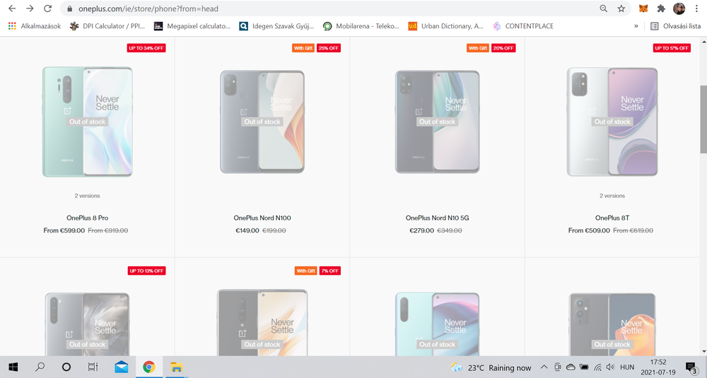 We hope to upload at least the OnePlus Nord N10 and N100 kits tomorrow.
