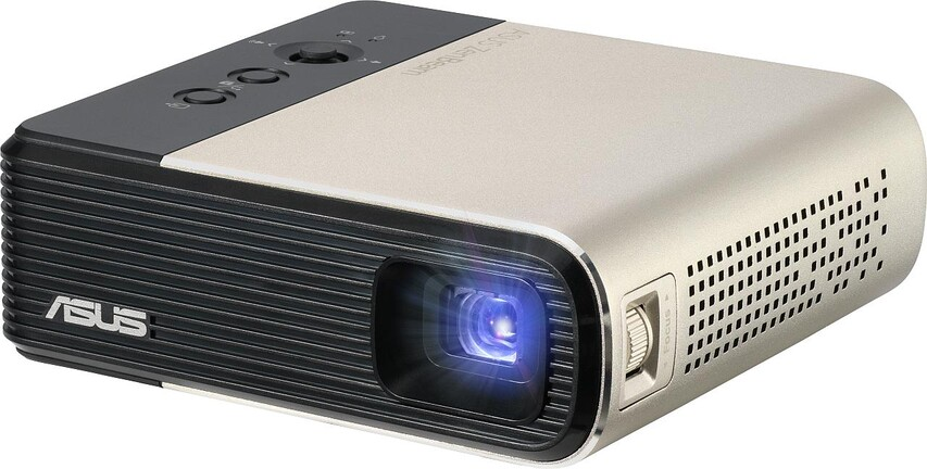 ZenBeam E2 portable projector with automatic portrait mode for mobile phone shooting